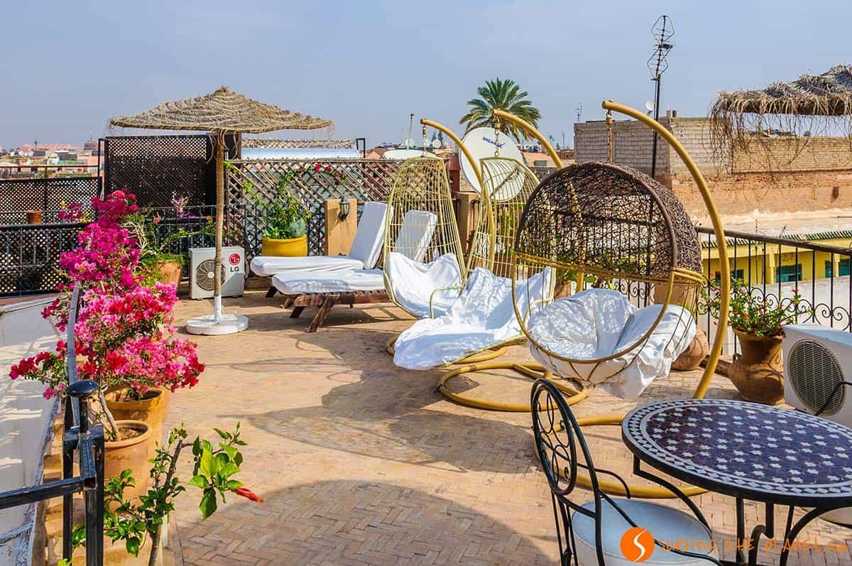 Terraza, Riad Mur Akush, Marrakech