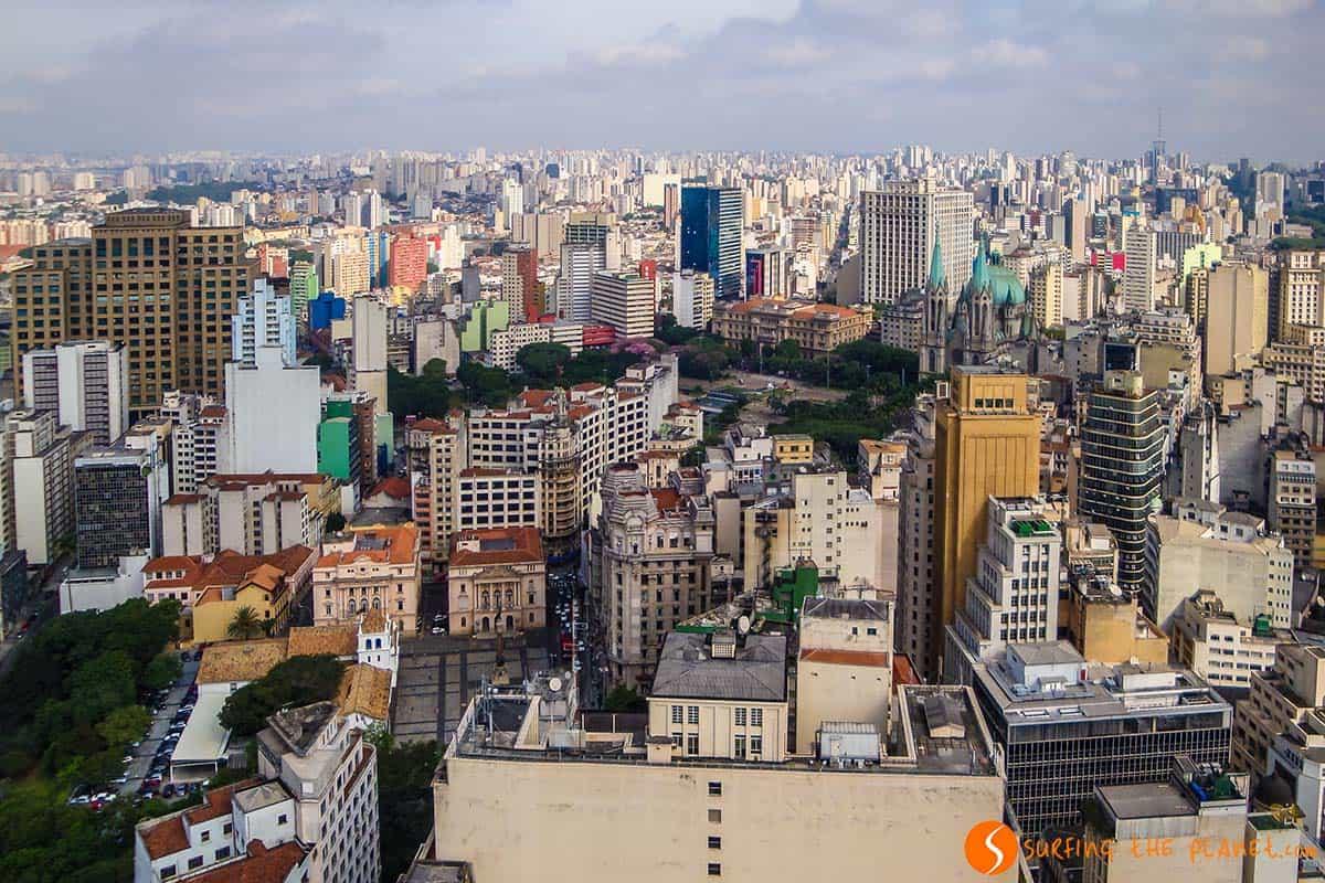 Vista panoramica, Sao Paulo, Brasil