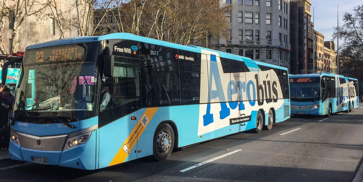 Aerobus, Barcelona, Cataluña, España | Cómo ir del Aeropuerto al centro de Barcelona
