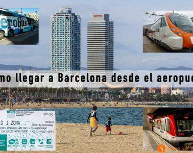 Cómo llegar a Barcelona desde el Aeropuerto del Prat | Viajar a España