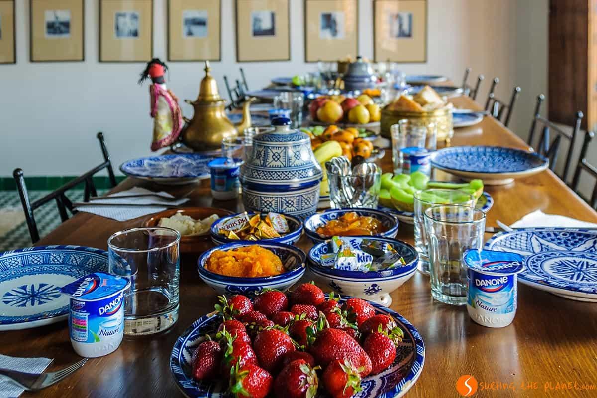 Breakfast, Dar Seffarine, Fes