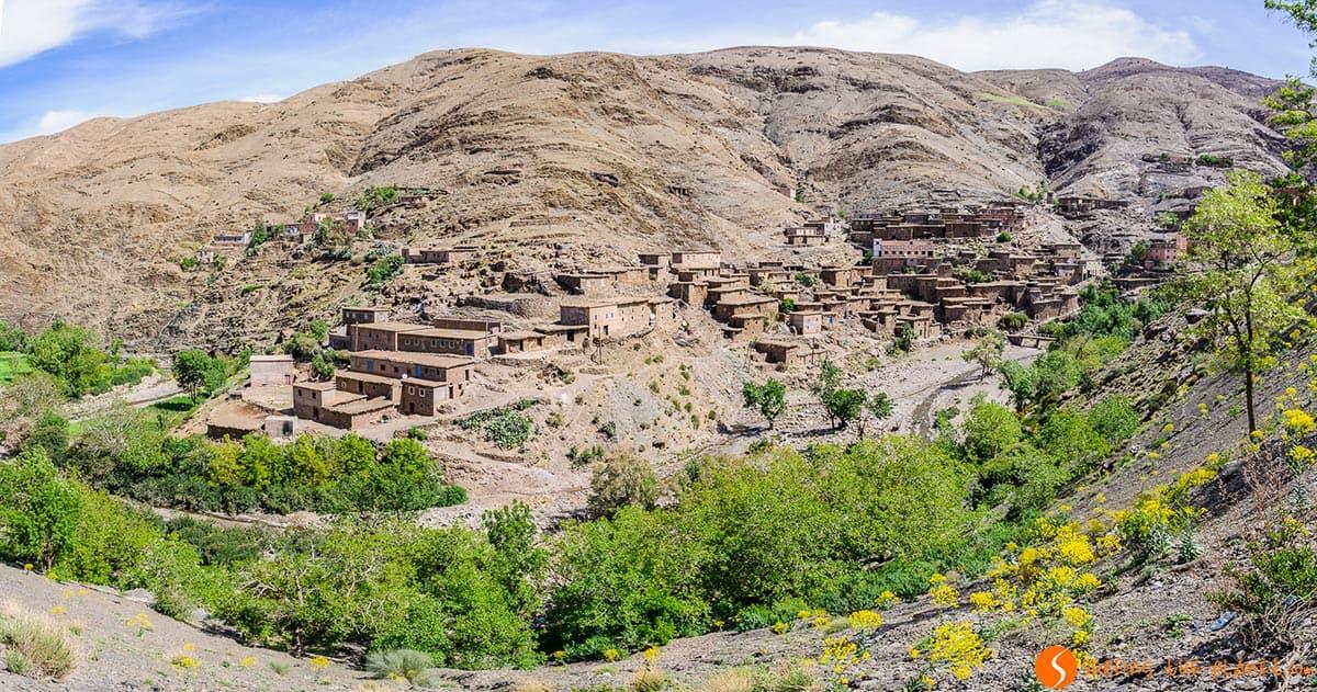 Pueblo bereber, Atlas, Marruecos