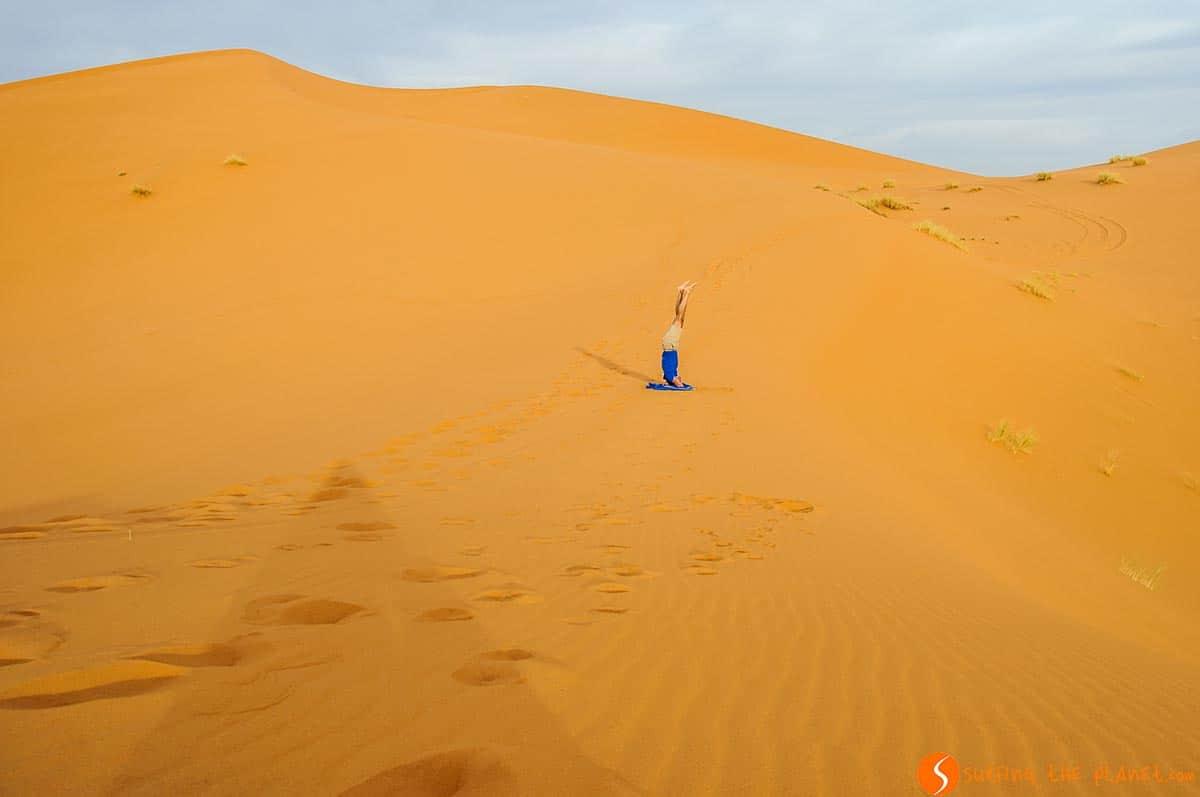 Headstand, Merzouga Desert, Morocco