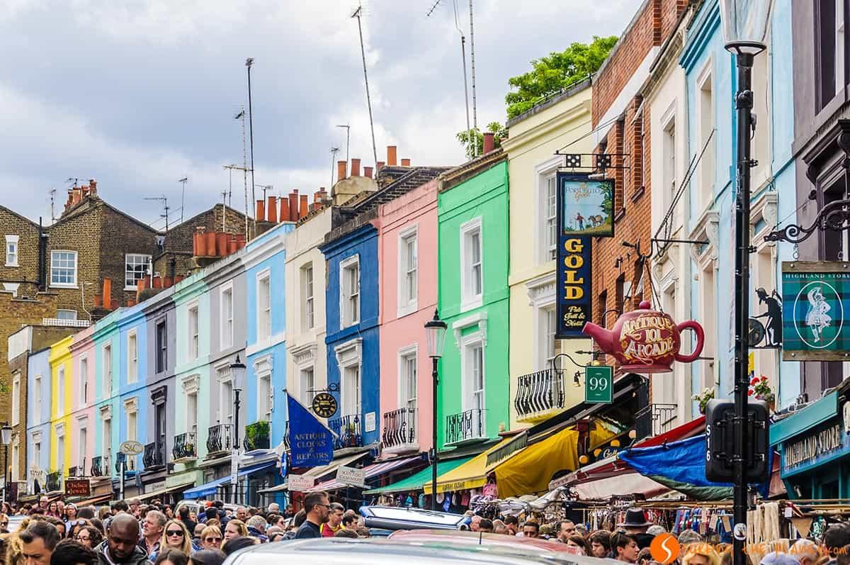 Casas de color, Portobello Road, Londres | Fin de semana en Londres