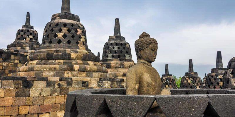 Templo budista, Borobudur, Indonesia