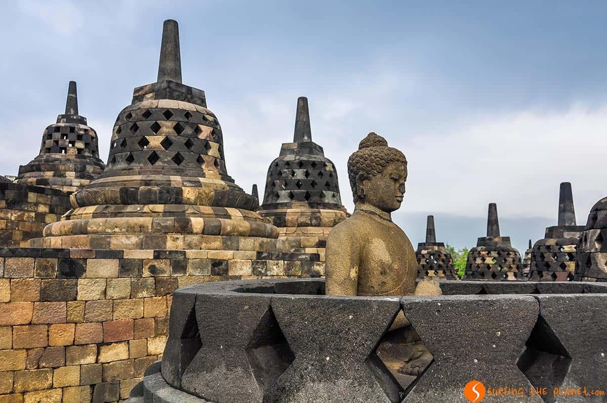Buddhist temple of Borobudur, Java, Indonesia