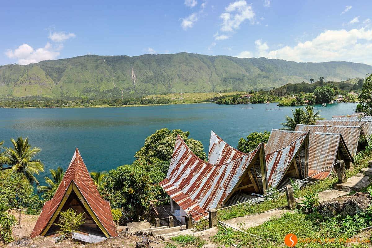 Casas tipicas, Lago Toba, Sumatra, Indonesia | Que ver Indonesia 2 semanas, isla Sumatra
