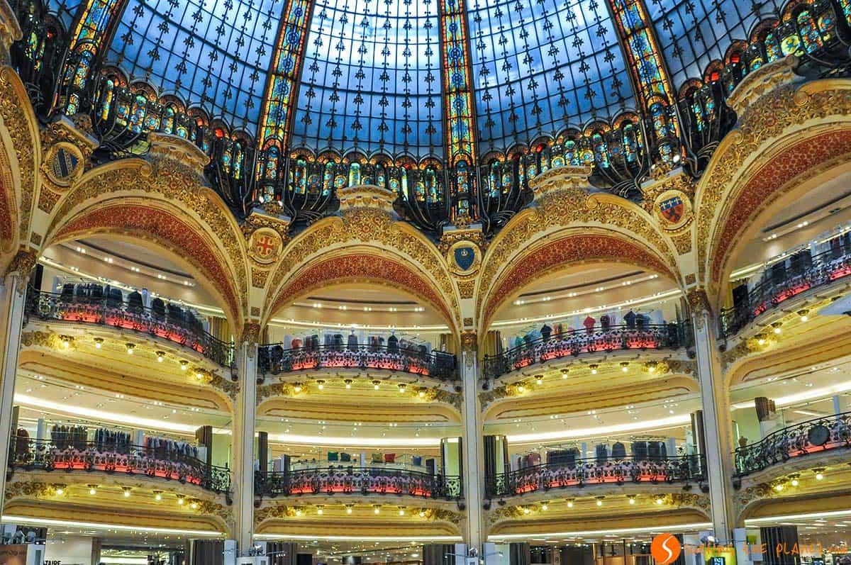 Interior, Centro Comercial Lafayette, Paris | que visitar en Paris en 4 días