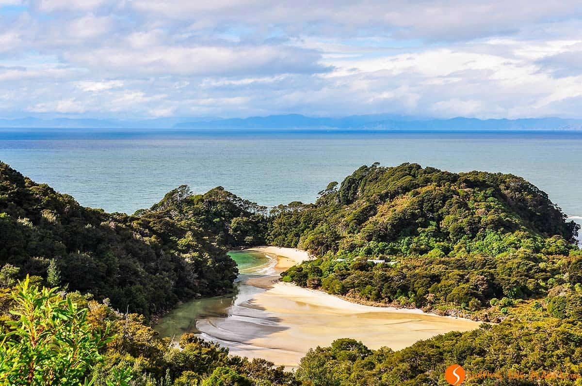 Playa virgen, Abel Tasman, Nueva Zelanda | Viajar a Nueva Zelanda