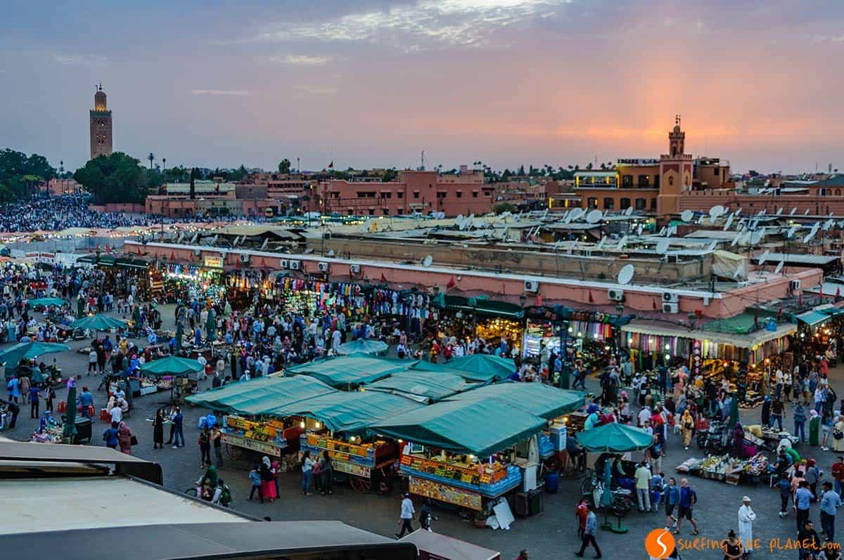 Plaza Djemma El Fna, Marrakech, Marruecos