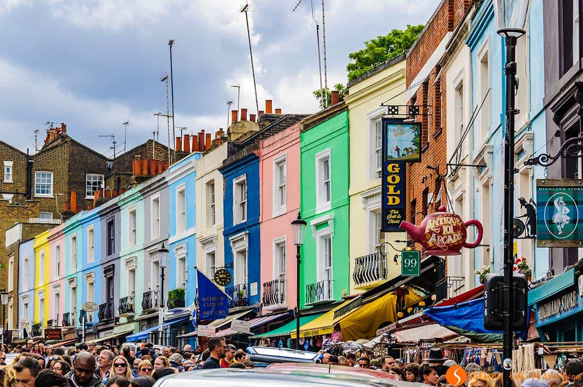 Casas, Portobello Road, Londres | Tours gratis en Londres