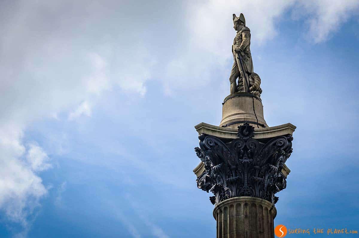 Estatua Almirante Nelson, Plaza Trafalgar, Londres | Plazas que ver en el mundo