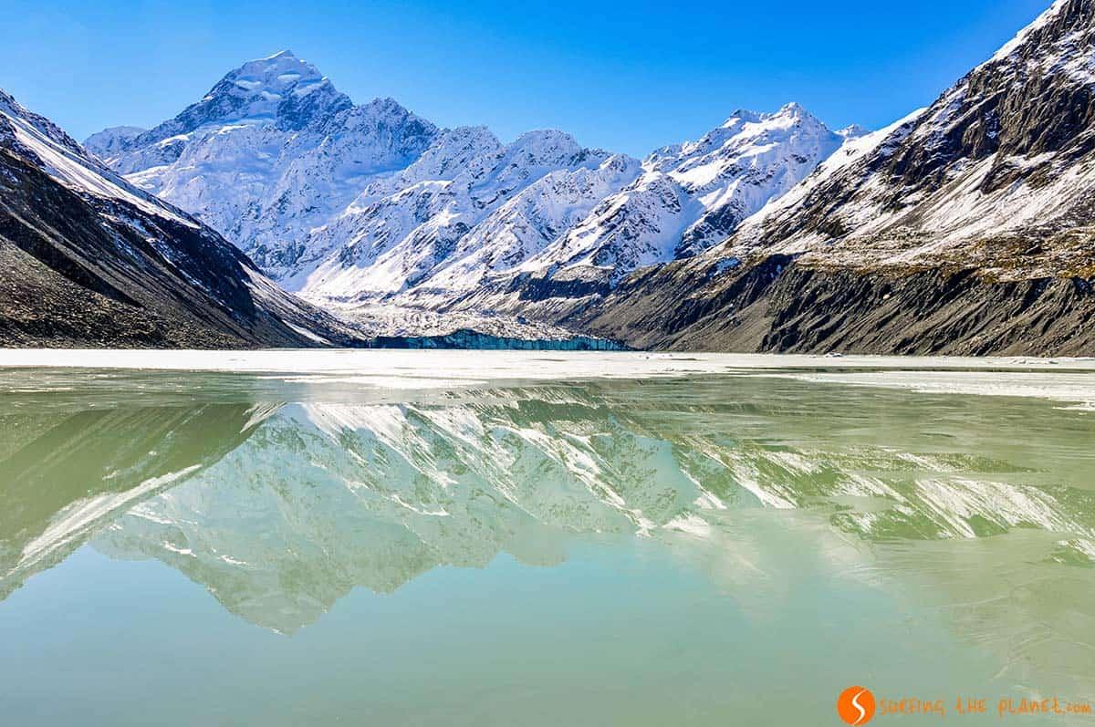 Reflejo Monte Cook, Nueva Zelanda | Nueva Zelanda en 15 días