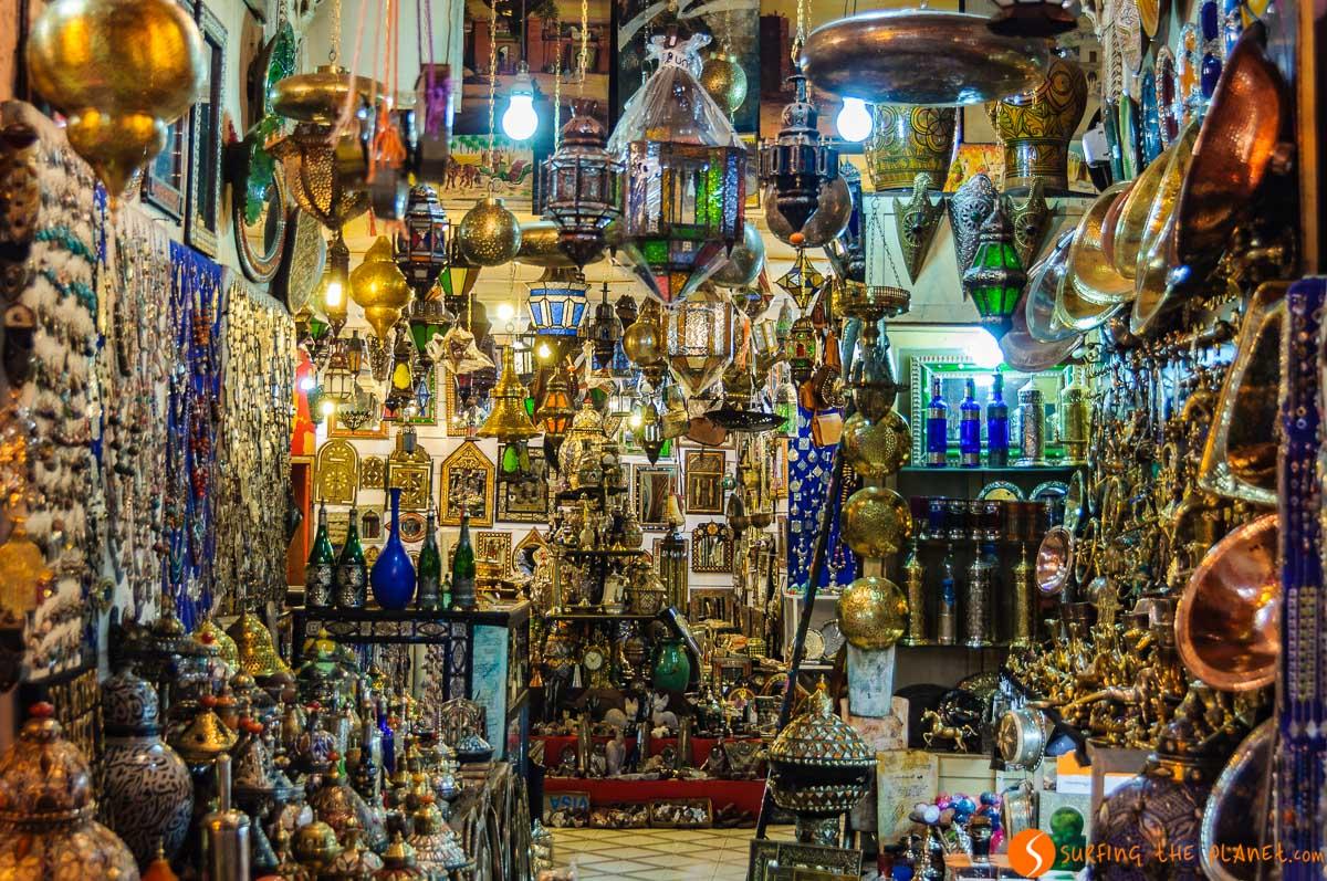 Noche en los zocos, Marrakech, Marruecos