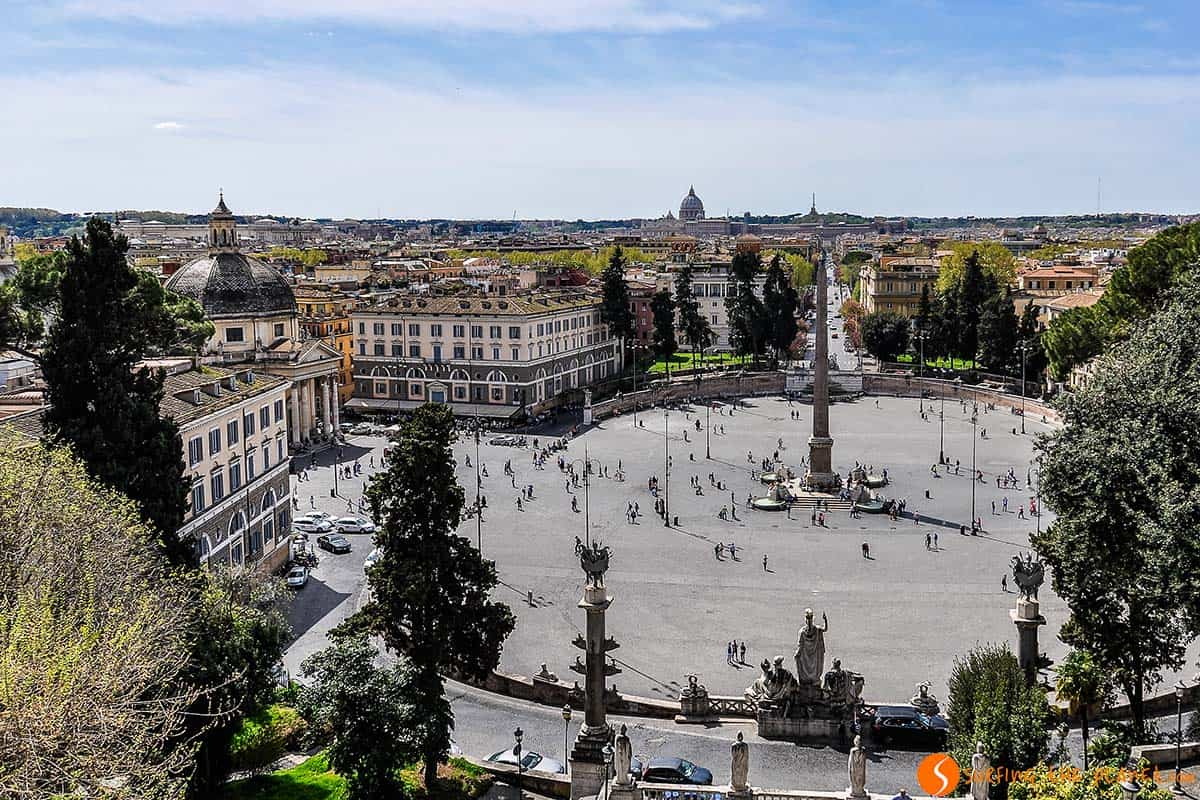 Plaza Popolo, Roma, Italia