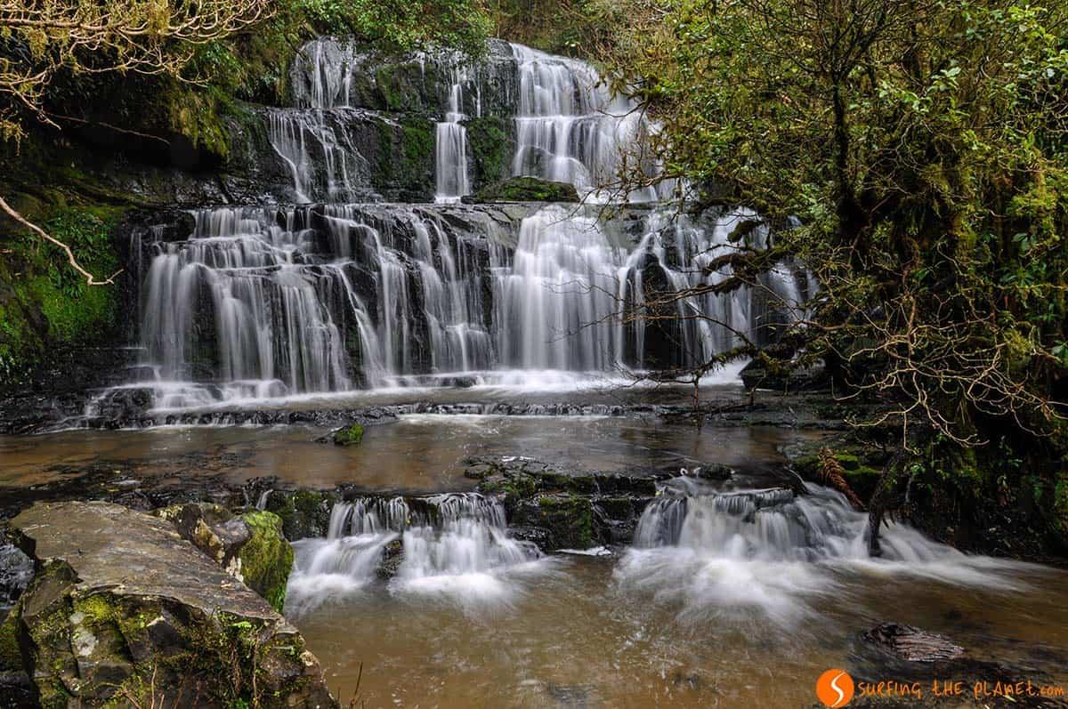 Cataratas Purakaunui, Costa Sur, Nueva Zelanda | Que ver y hacer en Nueva Zelanda en 15 días