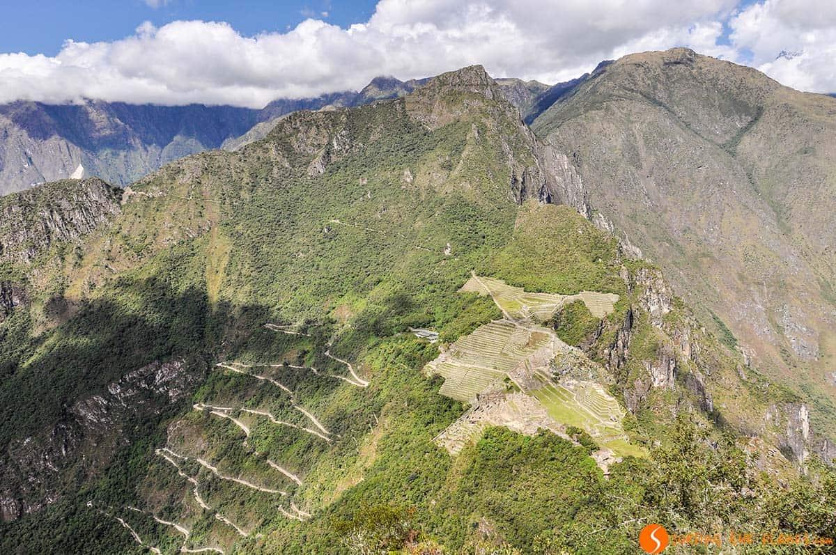 Vista aérea, Machu Picchu, Perú