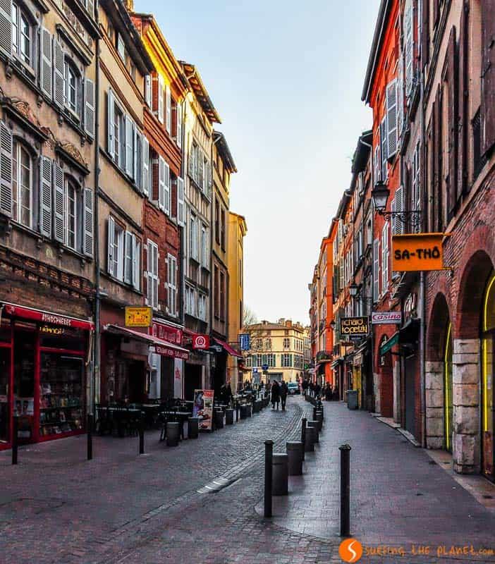 El casco histórico, Toulouse, Francia