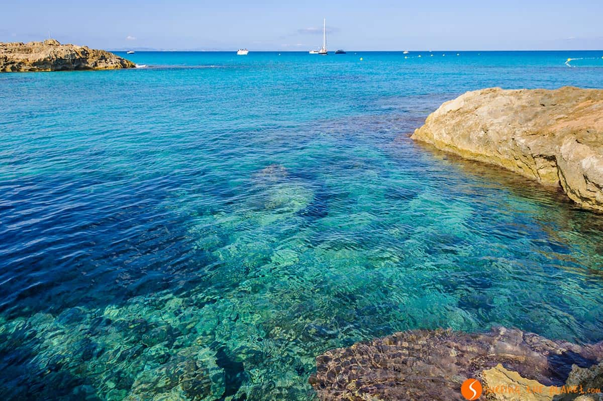 Transparent water, Calo Sant Agusti, Formentera, Spain | The best beaches in Formentera