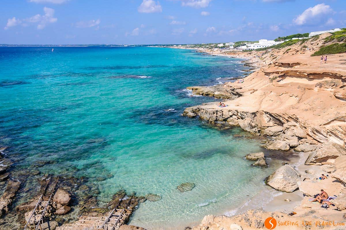 Spiaggia Caló des Mort, Formentera, Spagna