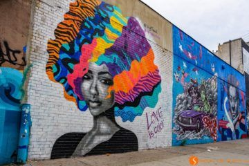 Graffiti en Brushwick, Brooklyn, Nueva York