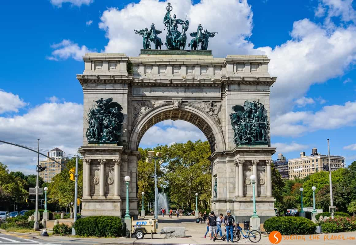 Qué ver en Brooklyn | Arco de Triunfo en Grand Army Plaza, Brooklyn, Nueva York