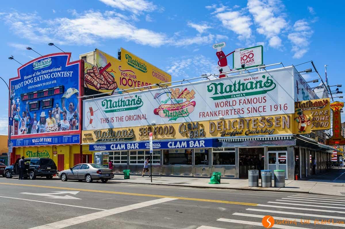 Nathan's en Coney Island, Brooklyn, Nueva York