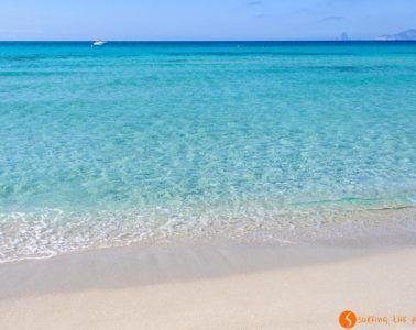 Playa arena blanca, Ses Illetes, Formentera, España