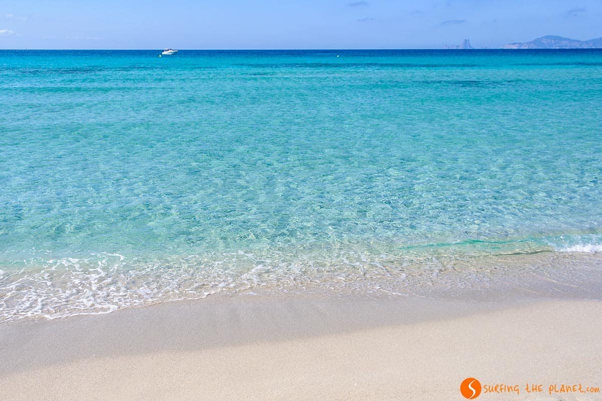 Spiaggia di sabbia bianca, Ses Illetes, Formentera, Spagna