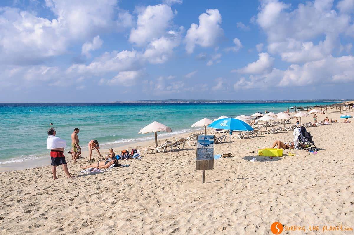 Spiaggia Es Arenals, Formentera, Spagna | Le spiagge più belle di Formentera