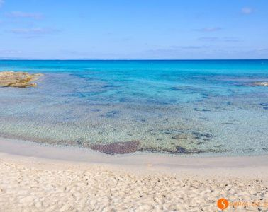 Playa Ses Platgetes, Formentera, España
