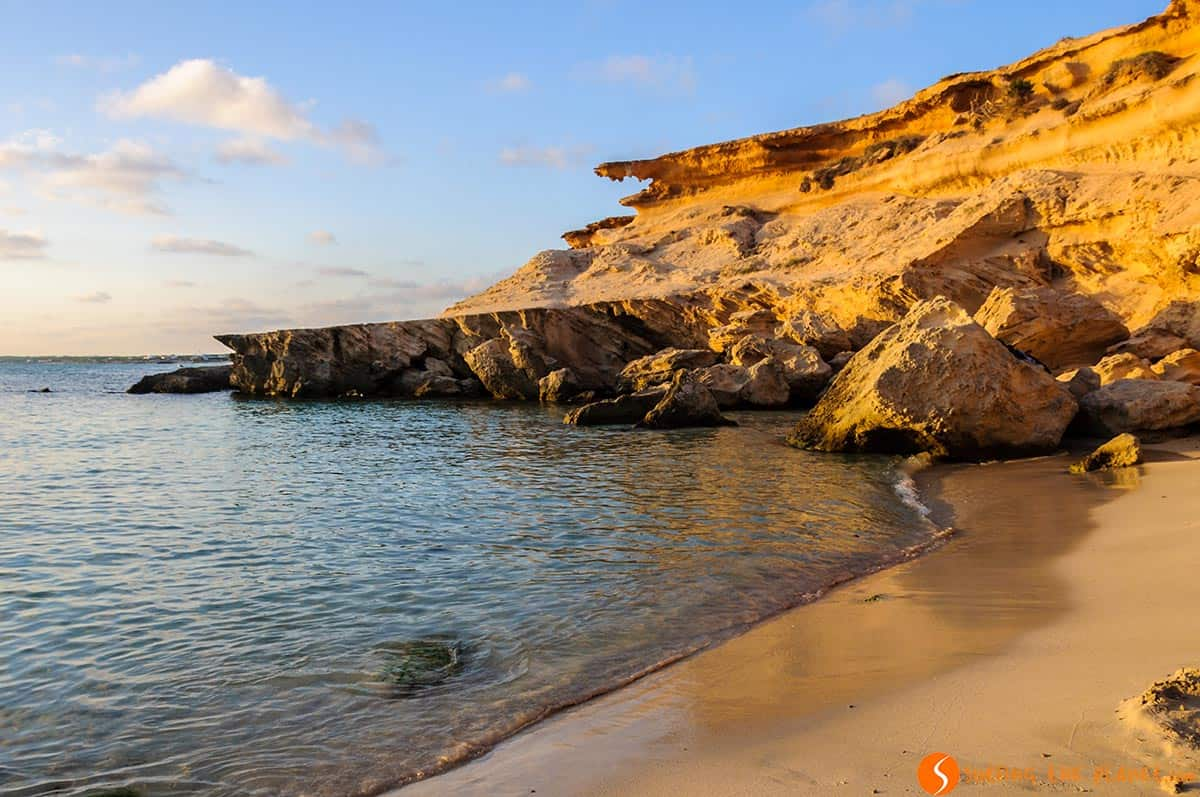 The best beaches in Formentera | Caló des Mort Beach at sunset, Formentera, Spain