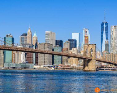 Vista Manhattan de día, DUMBO, Nueva York