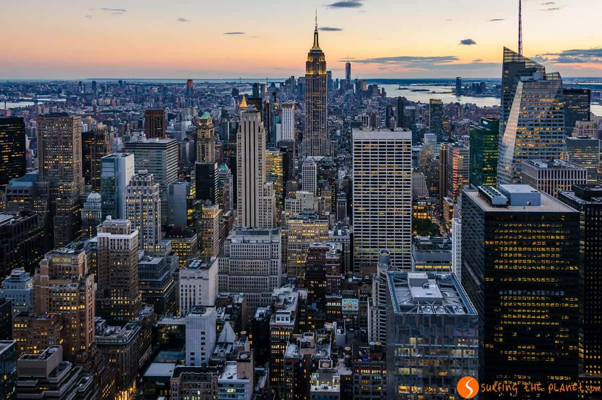 View of Manhattan from Top of the Rock, New York | The best photos of New York