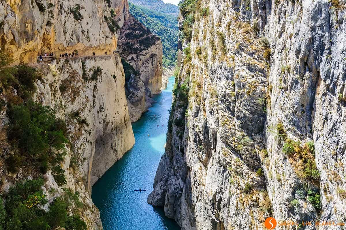 Vista desde arriba del Congost de Mont-Rebei, Cataluña | Ruta por el Congost de Mont-rebei