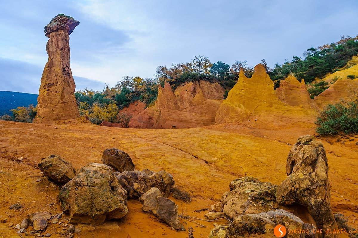 Formación ocre, Colorado Provenzal, Francia | Qué visitar en la Provenza