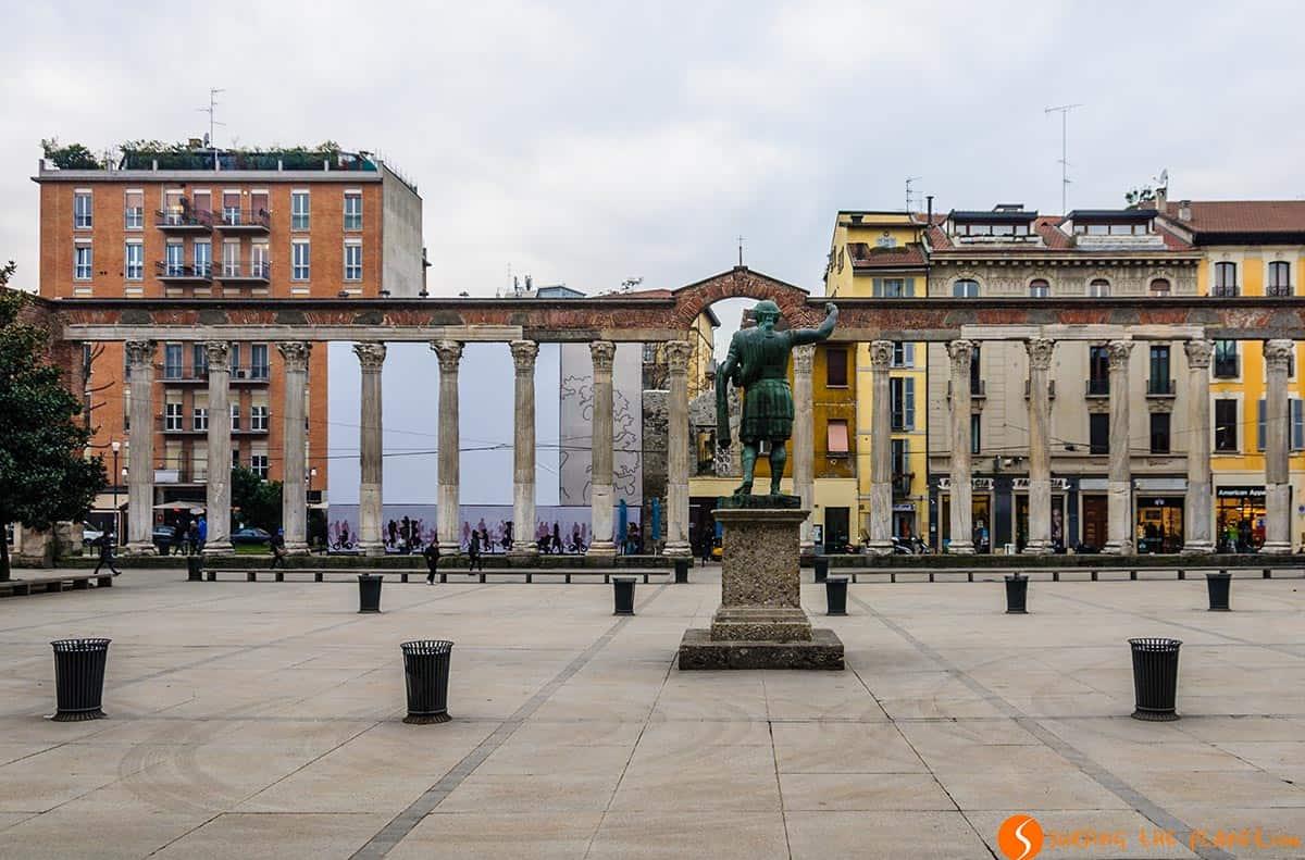 Columnas romanas, Milan, Italia