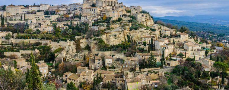 Panorámico de Gordes, Provenza, Francia