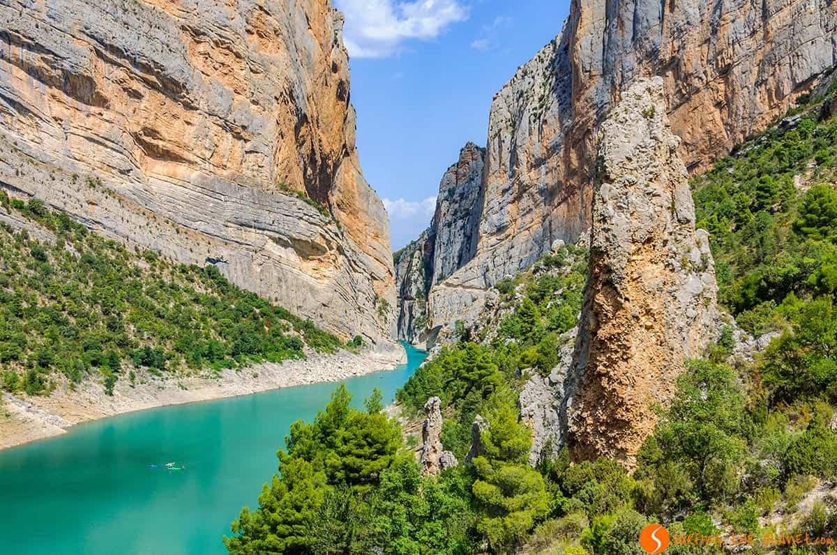 Paredes de roca del Congost de Mont-Rebei, Cataluña