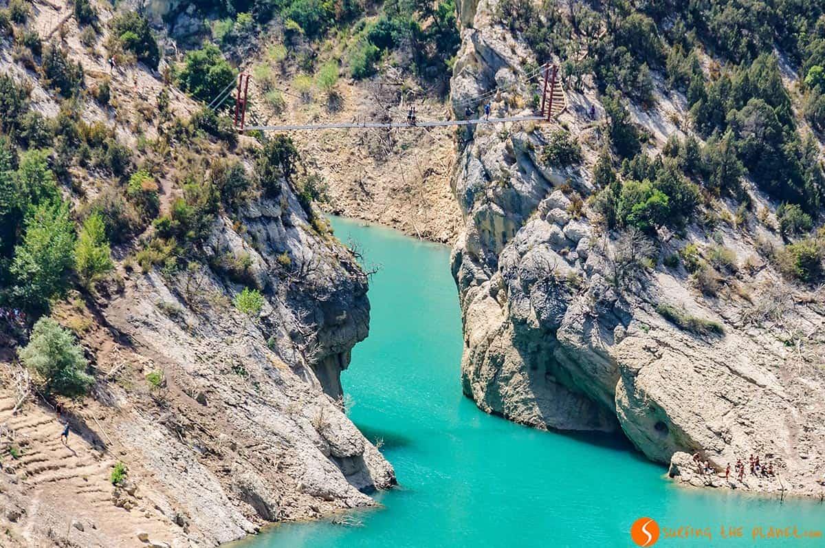 Puente Colgante en el Congost de Mont-Rebei, Huesca, Aragón