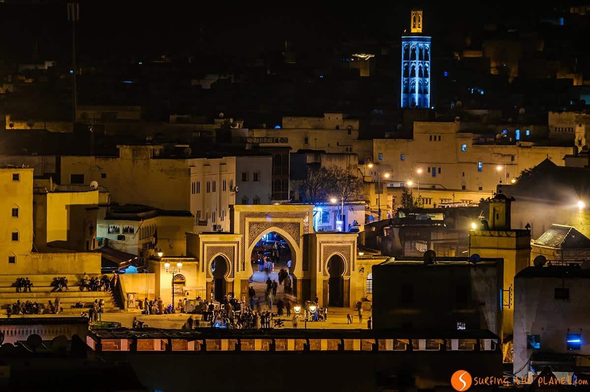 Vista nocturna, Fez, Marrakech | Qué ver y hacer en Marruecos