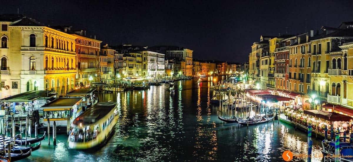 Vista nocturna, Venecia, Italia | Qué ver en Venecia en un día