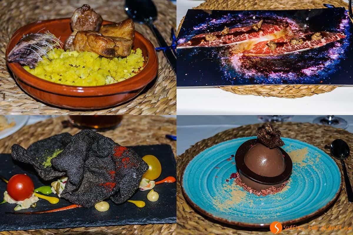 Platos de la cena, Aras de los Olmos, España