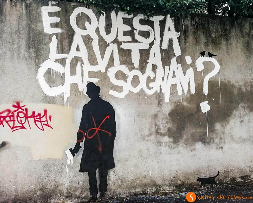 E' questa la vita che sognavi | murales Padova, Italia