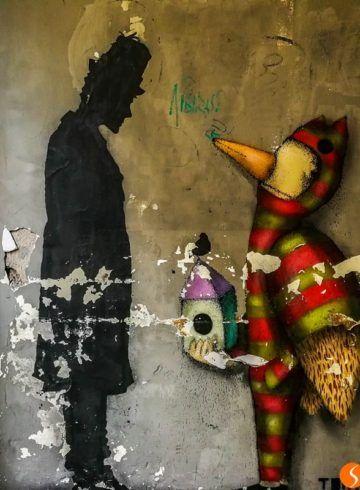 Kenny Random e Tony Gallo, street art, Padova, Italia