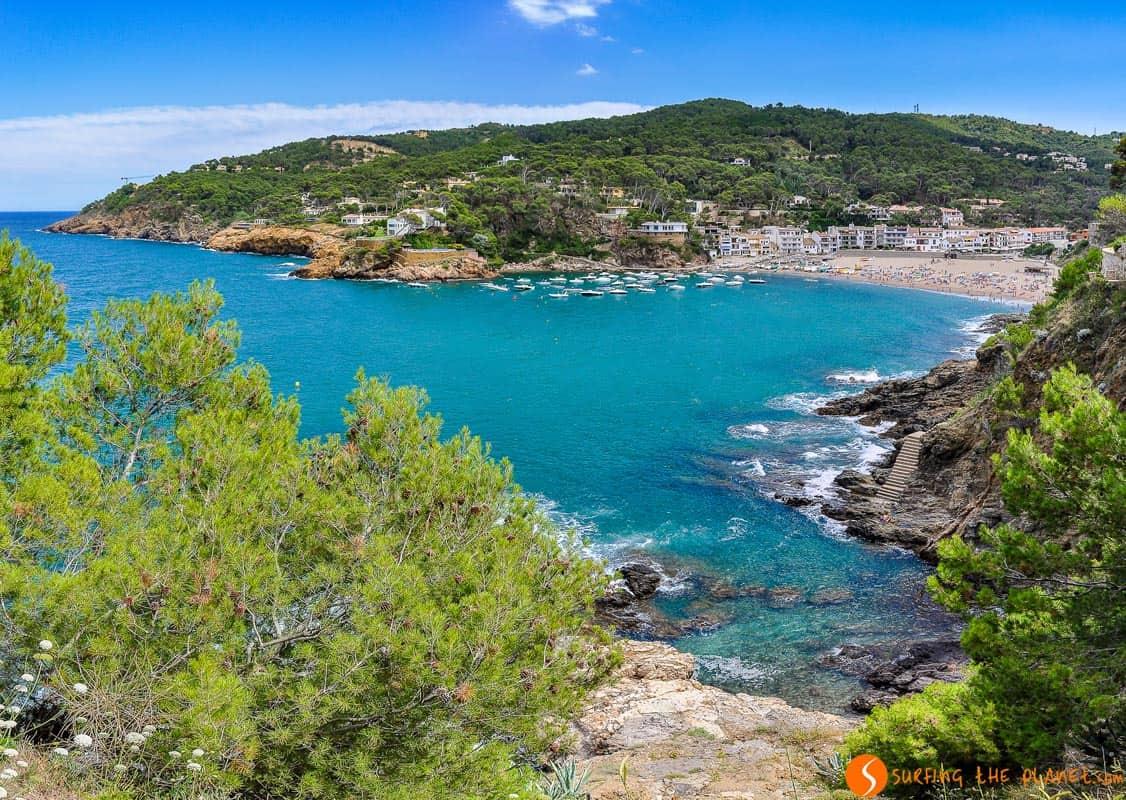 Vista Cala Sa Riera, Begur, Costa Brava | Las mejores playas de la Costa Brava
