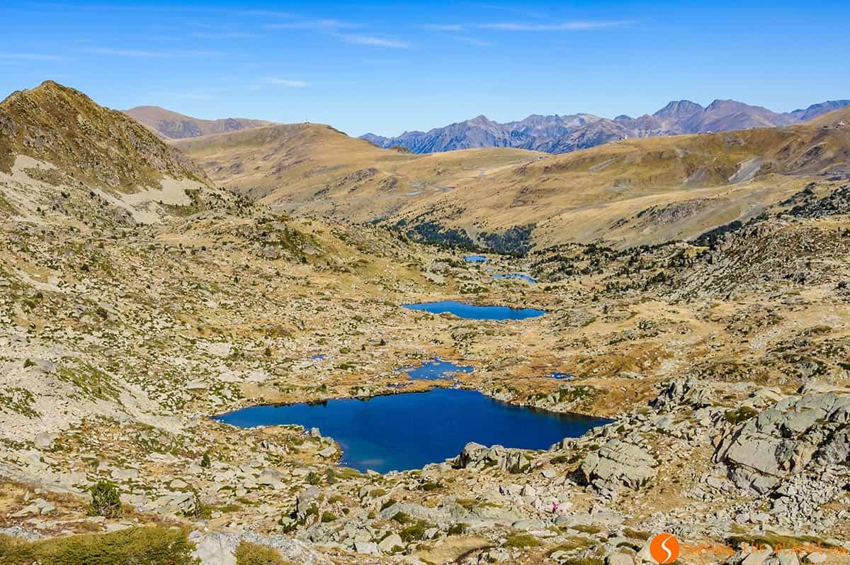 Vista de los Lagos Pessons, Andorra