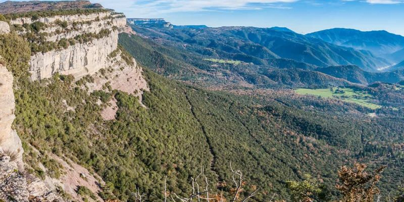 Vistas de Cingles de Tavertet, Cataluña, España