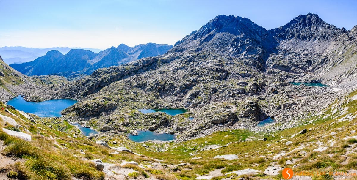Lakes from Coll de Monestero, Aigüestortes National Park, Catalonia