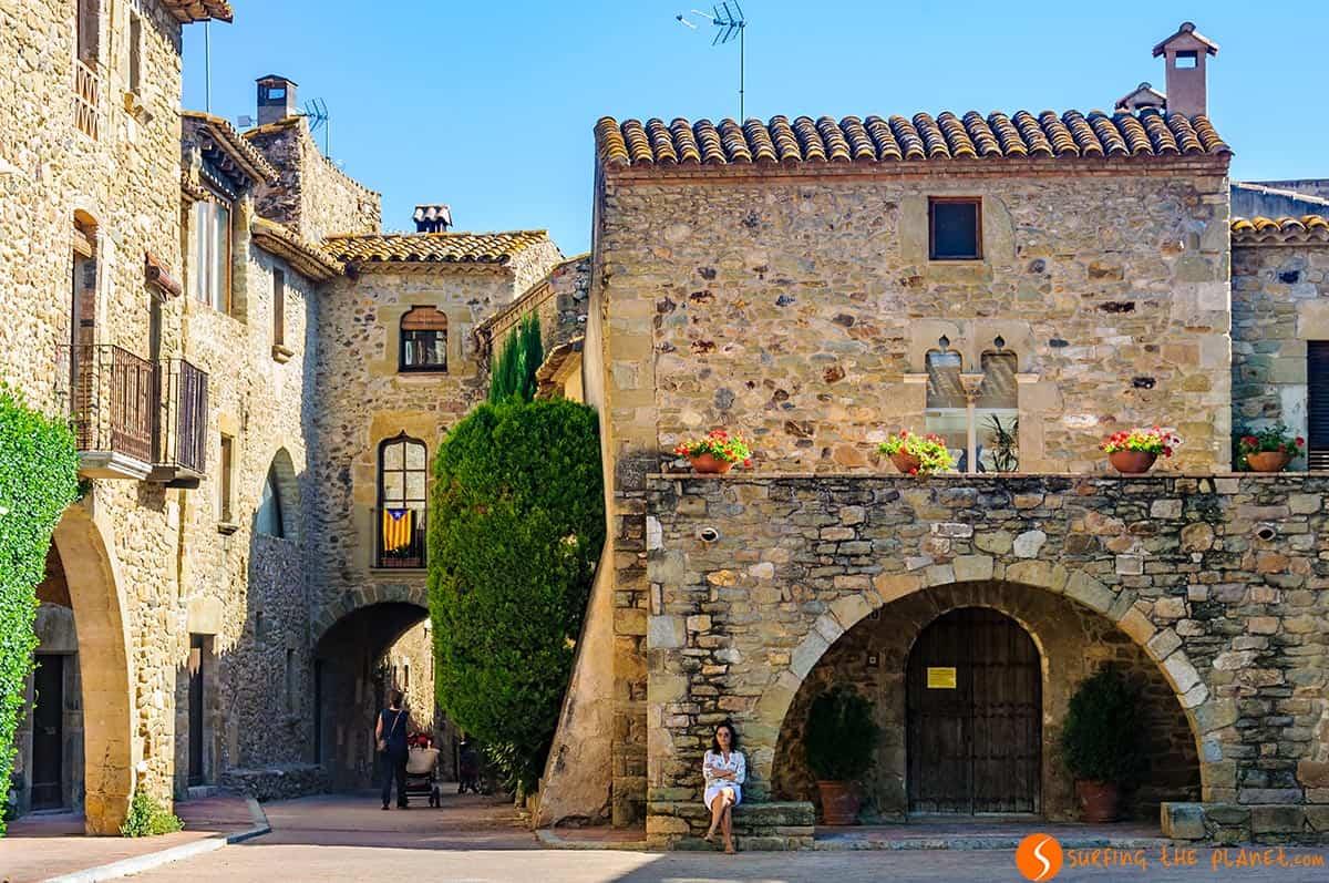 Calle medieval, Monells, Costa Brava